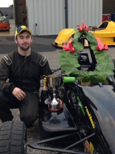 Jake scored an impressive win in the Bernard Baxter FF1600 Trophy race at Anglesey in December 2014.
