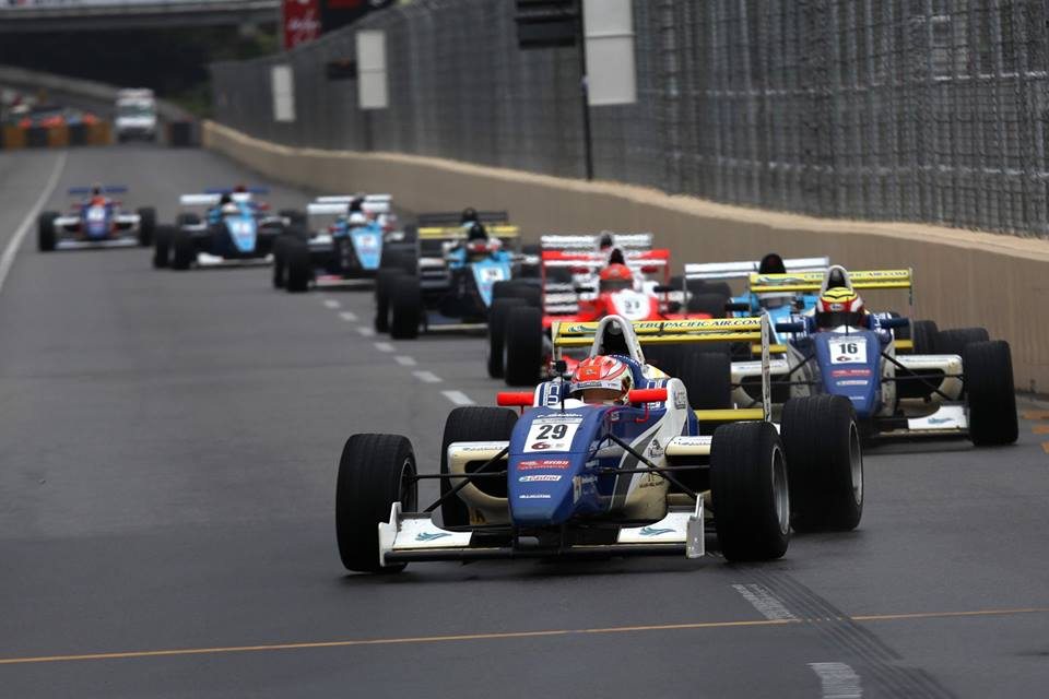 Akash Nandy raced his way to victory in Macau recently.